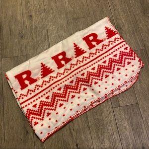 Rutgers scarlet knights fleece blanket throw